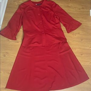 Scott Taylor Red Two Piece Skirt Set